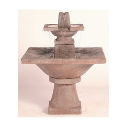 2-Tier Quadrate Garden Water Fountain, Tiered Outdoor Fountains - Outdoor Fountain Pros