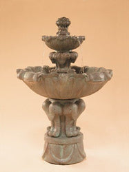 Vesuvio Tiered Garden Fountain - Small, Garden Outdoor Fountains - Outdoor Fountain Pros