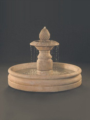 Venetian Cast Stone Outdoor Fountain With 46 Inch Basin, Large Outdoor Fountains - Outdoor Fountain Pros