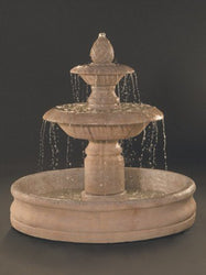 Venetian Two Tier Outdoor Fountain With 55 Inch Basin, Large Outdoor Fountains - Outdoor Fountain Pros
