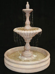 Four Seasons Tiered Garden Fountain with 46 Inch Basin - Small, Tiered Outdoor Fountains - Outdoor Fountain Pros