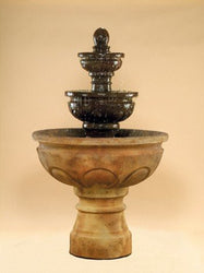 Baroque Tiered Outdoor Fountain, Tiered Outdoor Fountains - Outdoor Fountain Pros