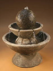 Zen Tiered Garden Fountain - Short, Tiered Outdoor Fountains - Outdoor Fountain Pros