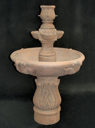 Assisi Tiered Garden Water Fountain with Cobra Pedestal, Tiered Outdoor Fountains - Outdoor Fountain Pros