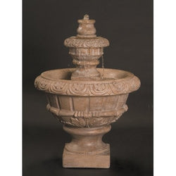 Roma Cast Stone Outdoor Fountain - Small, Tiered Outdoor Fountains - Outdoor Fountain Pros
