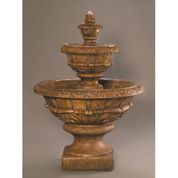 Roma Cast Stone Outdoor Fountain, Tiered Outdoor Fountains - Outdoor Fountain Pros