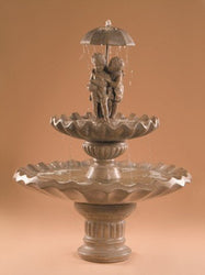 Sweetheart 2-Tier Garden Water Fountain, Tiered Outdoor Fountains - Outdoor Fountain Pros