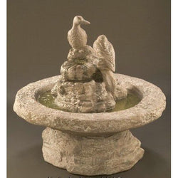 Duck Cast Stone Garden Fountain - Small, Garden Outdoor Fountains - Outdoor Fountain Pros