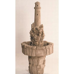 Lighthouse On Cliff Garden Water Fountain, Garden Outdoor Fountains - Outdoor Fountain Pros