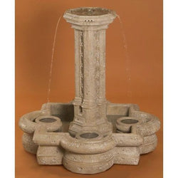 Victorian Small Garden Fountain in Quatrefoil Basin, Garden Outdoor Fountains - Outdoor Fountain Pros