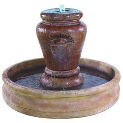 Jardine Pot Outdoor Water Fountain With 55 Inch Basin, Urn Outdoor Fountains - Outdoor Fountain Pros
