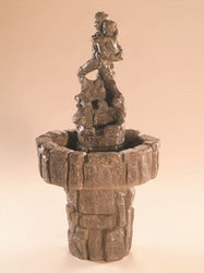 Big Brother Cast Stone Garden Fountain, Garden Outdoor Fountains - Outdoor Fountain Pros