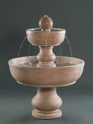 2-Tier Alonzo Garden Water Fountain, Tiered Outdoor Fountains - Outdoor Fountain Pros