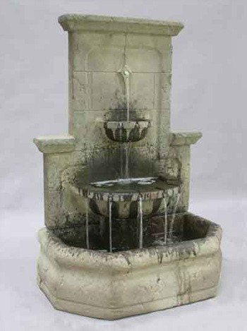 Augustine Outdoor Wall Water Fountain, Wall Outdoor Fountains - Outdoor Fountain Pros
