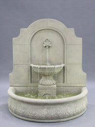 Provincial Cast Stone Wall Outdoor Fountain, Wall Outdoor Fountains - Outdoor Fountain Pros