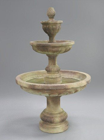 Mediterranean Tiered Outdoor Water Fountain, Tiered Outdoor Fountains - Outdoor Fountain Pros