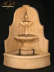D'Angolo  Outdoor Corner Fountain, Tiered Outdoor Fountains - Outdoor Fountain Pros