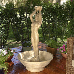 Lady Garden Water Fountain, Garden Outdoor Fountains - Outdoor Fountain Pros