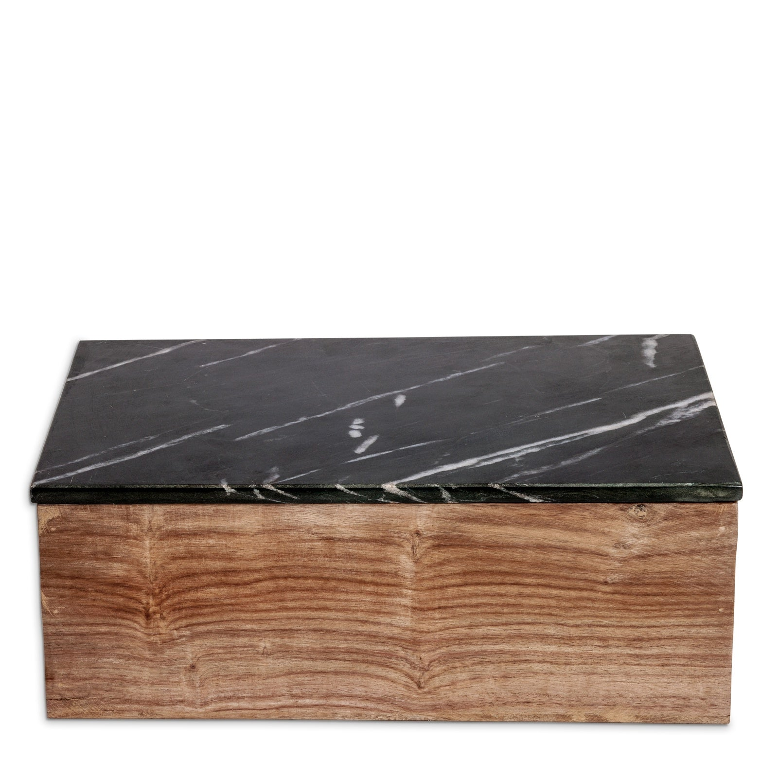 Wooden Box with Black Marble
