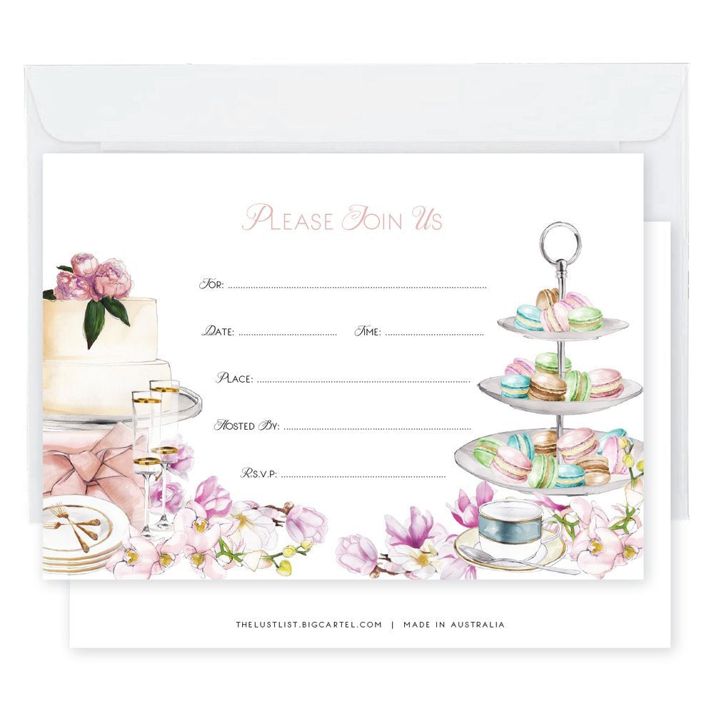 kitchen tea invitation mind over manor