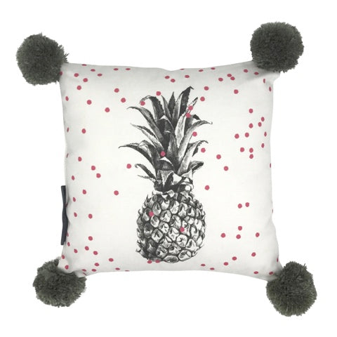 Grey Pineapple Cushion - Mind over Manor