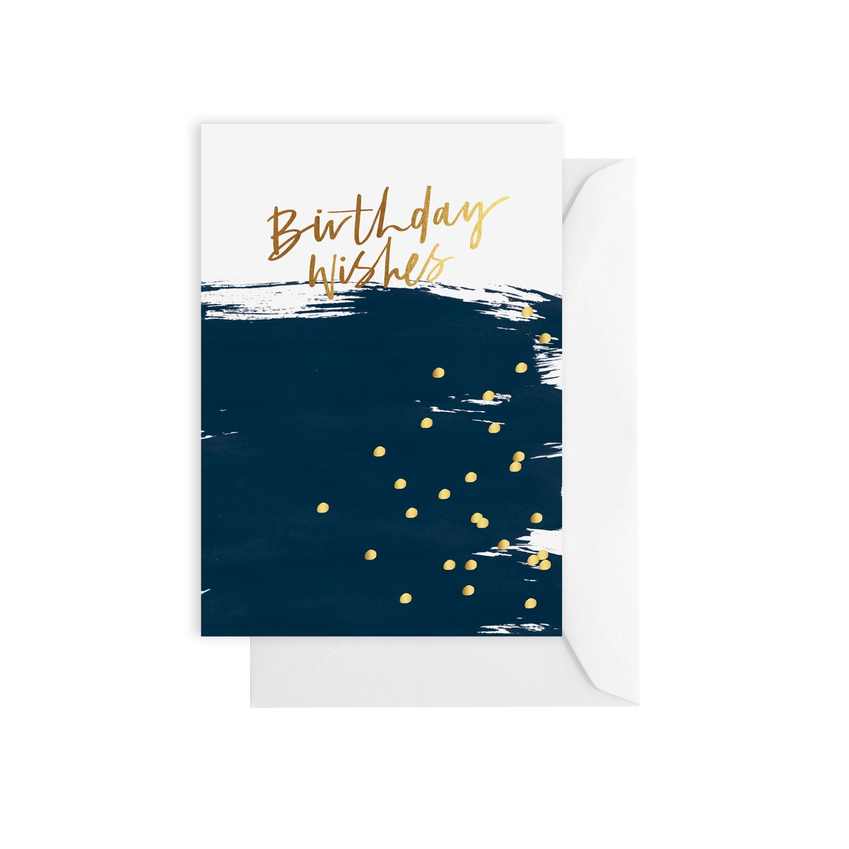 Birthday Wishes Navy Card - Mind over Manor