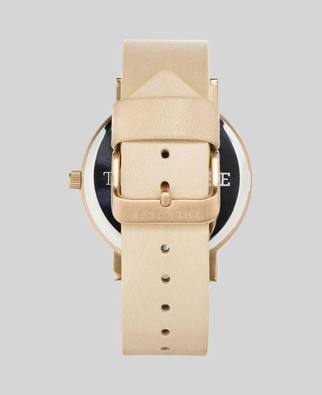 Brushed Rose Gold Watch / Natural Vegetable Tan - A24 - Mind over Manor