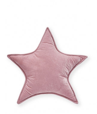Velvet Star Cushion - Pink 40cm