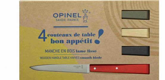 Opinel - Esprit Loft Box of 4 Table Knives No#125