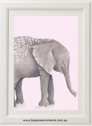 Boho Tribal Elephant - Pink A4 - Mind over Manor
