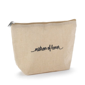 Matron of Honor Cosmetic Case with small broach
