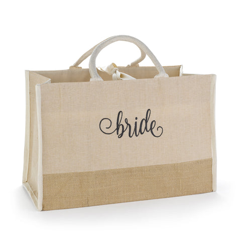 Bride Tote with large broach