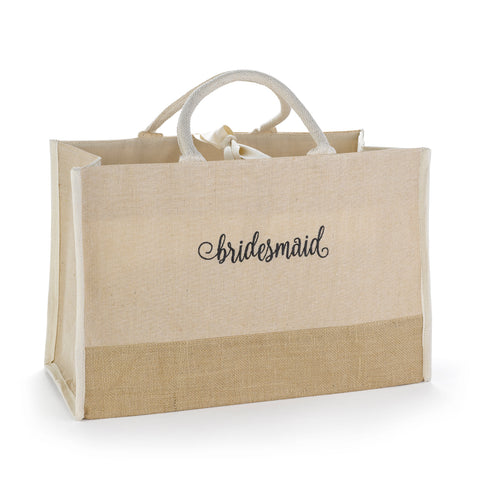 Bridesmaid Tote with large broach