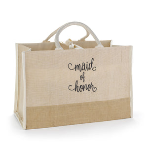 Maid of Honor Tote with large broach