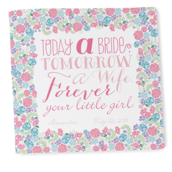 Today a Bride Hanky Personalized