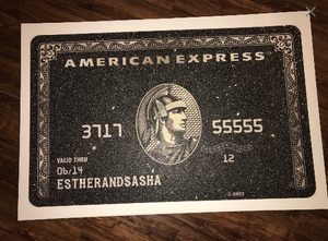 Diamond Dust Amex Black Card