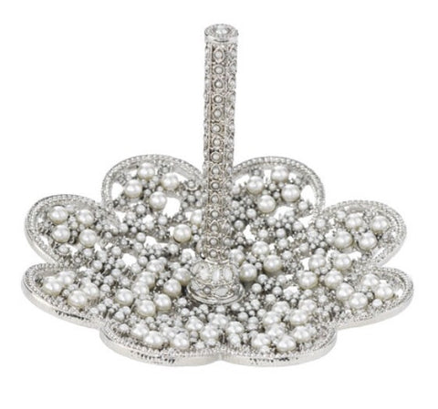 Olivia Riegel Princess Ring Stand / Pearl and Crystal