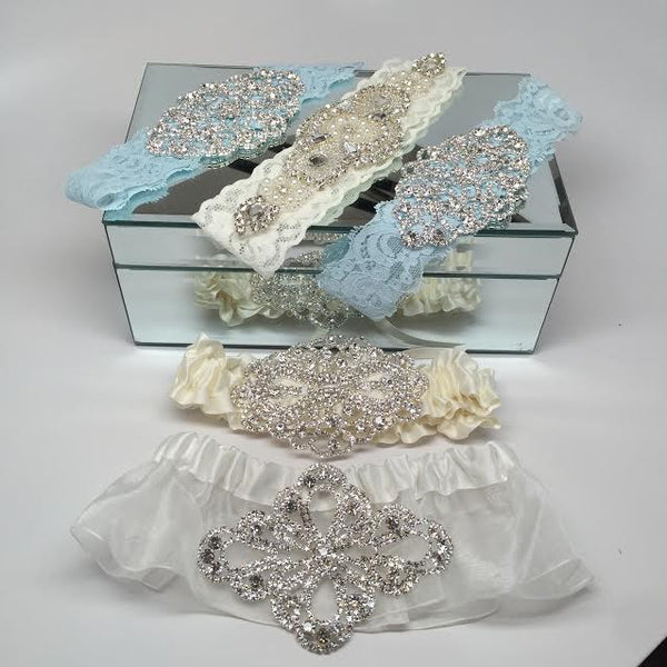 Something Blue Bling Garter