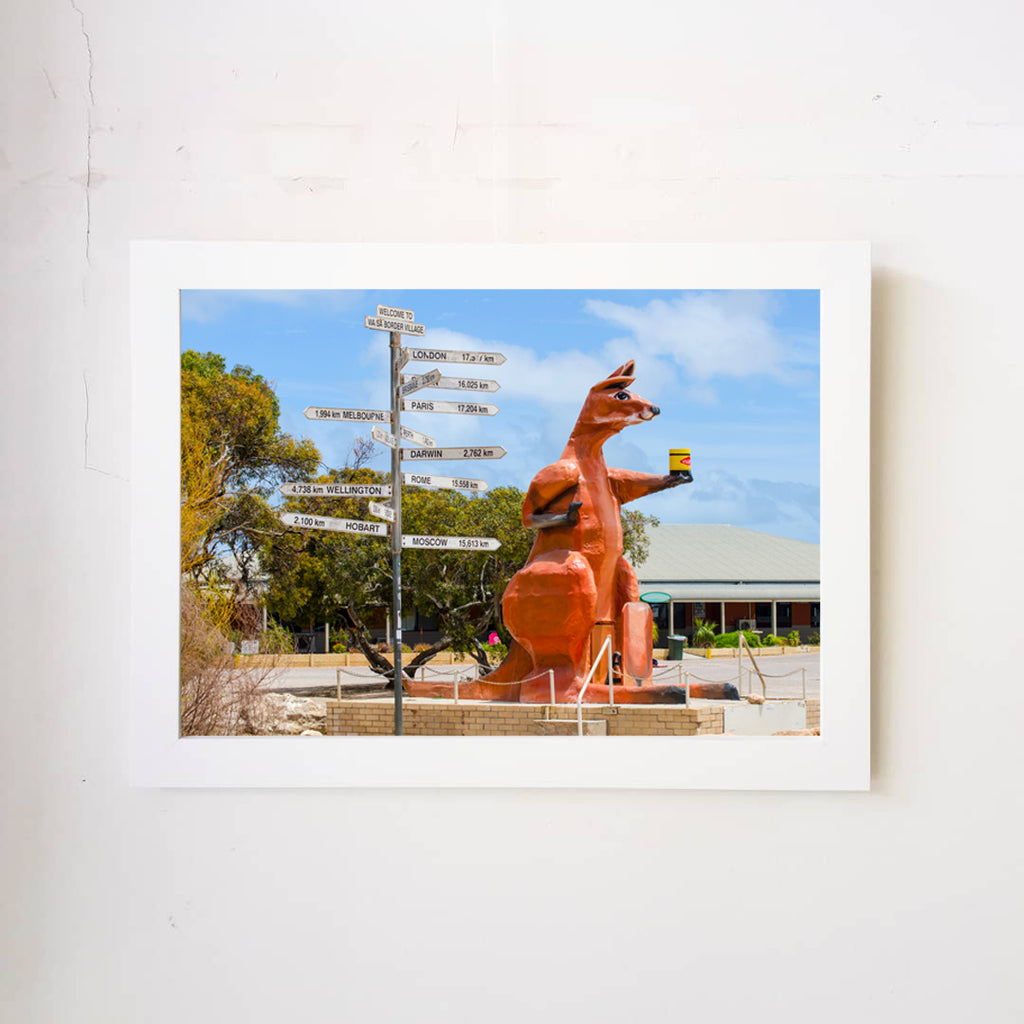 Border Village Kangaroo Art Print
