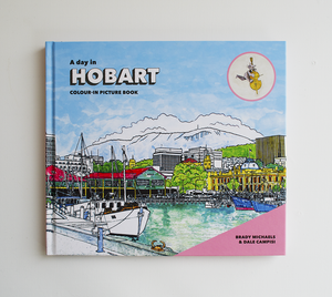 A DAY IN HOBART COLOUR-IN PICTURE BOOK