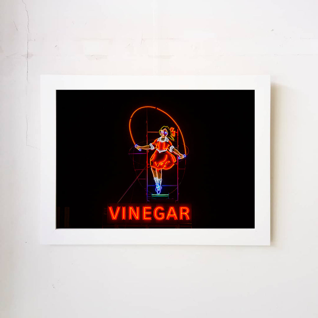 Skipping Girl Vinegar Art Print