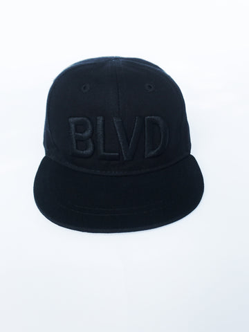All Black BLVD Baby Fitted