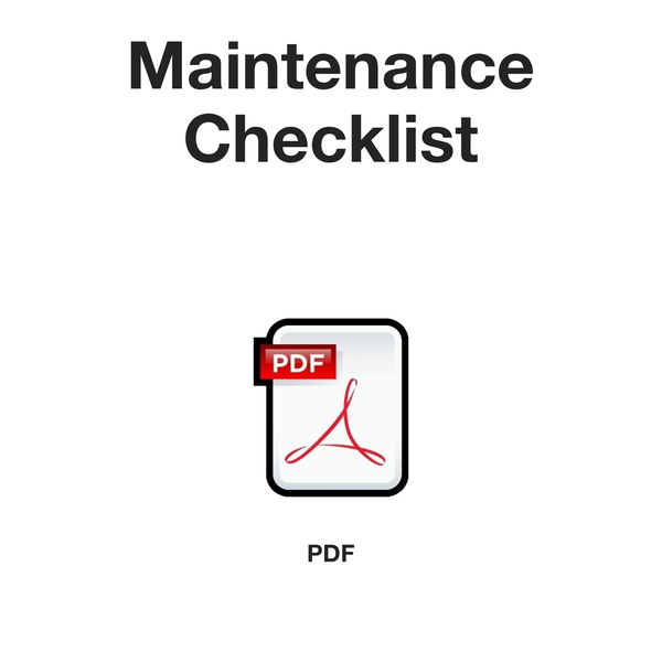 Maintenance checklist (PDF)