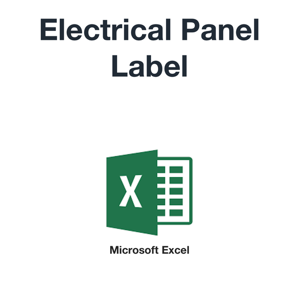 Electrical panel label (Microsoft Excel format)