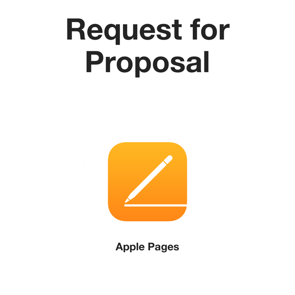 Request For Proposal - RFP (Apple Pages format)