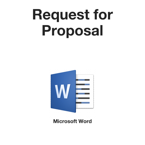 Request For Proposal - RFP (Microsoft Word format)