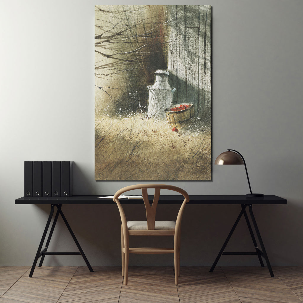 The Old Milk Can -Premium Gallery Wrapped Canvas
