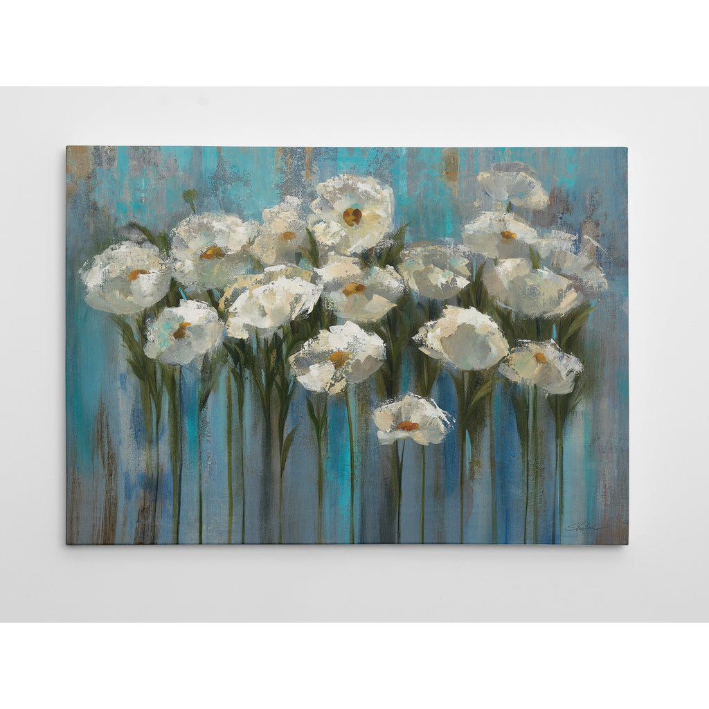 Silvia Vassileva 'Anemones by the Lake' Quality Hand-wrapped Canvas