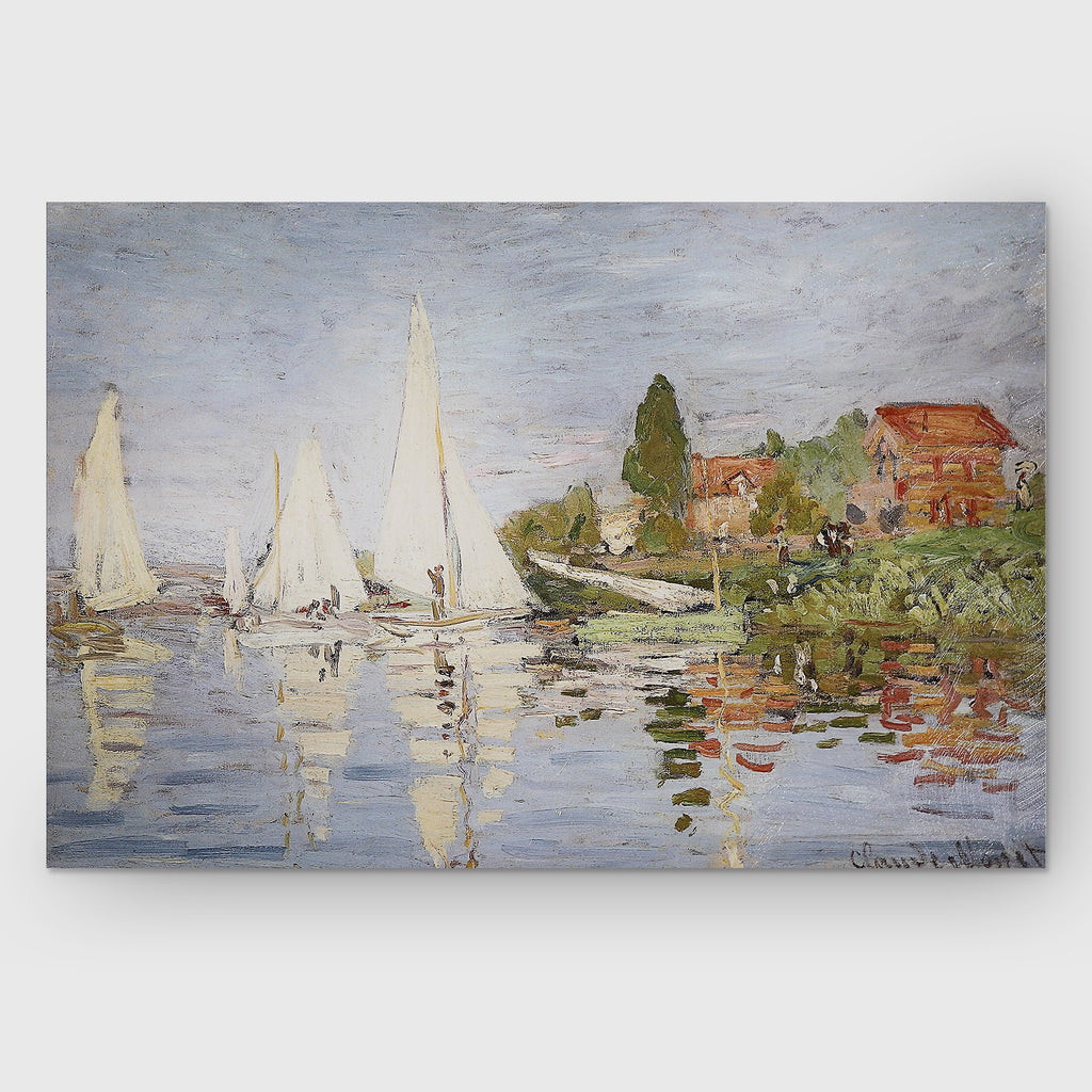 'Chapelton at Argenteuil' by Claude Monet Painting Print on Canvas