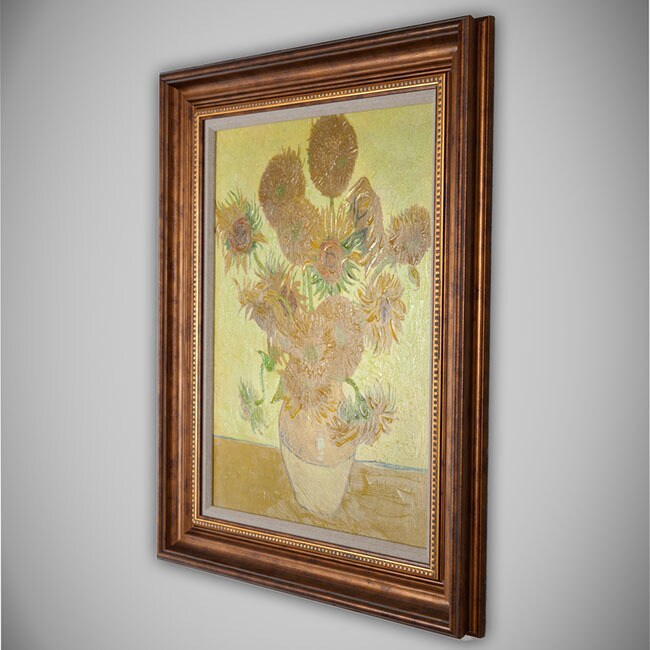 Vincent van Gogh 'Sunflowers' Framed Canvas Art